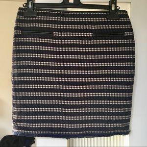 New Club Monaco leather trim pencil skirt